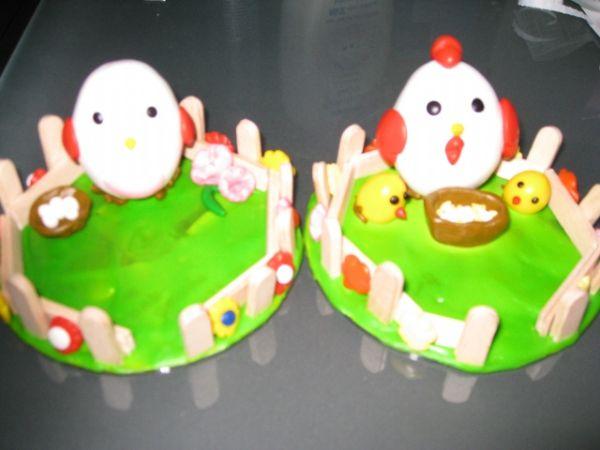 幼儿卡通母鸡手工制作