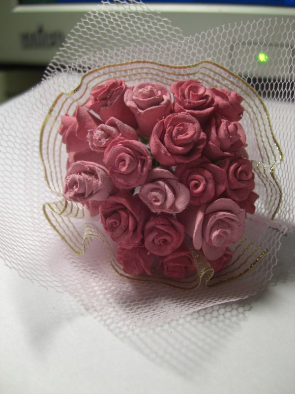 婚庆丝带花制作图解