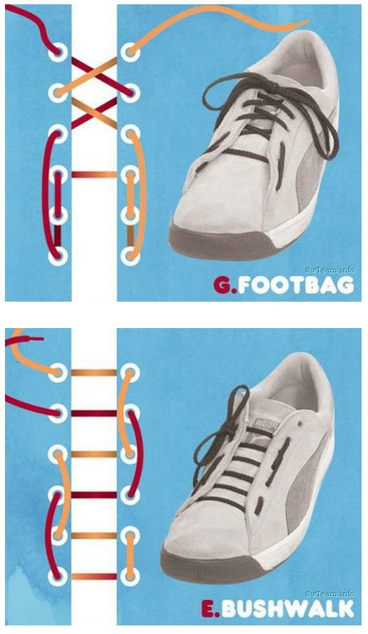5孔鞋带花样系法步骤