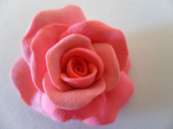 超轻粘土玫瑰花步骤 做法