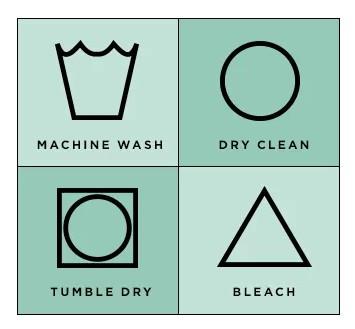 基本洗衣步骤图标