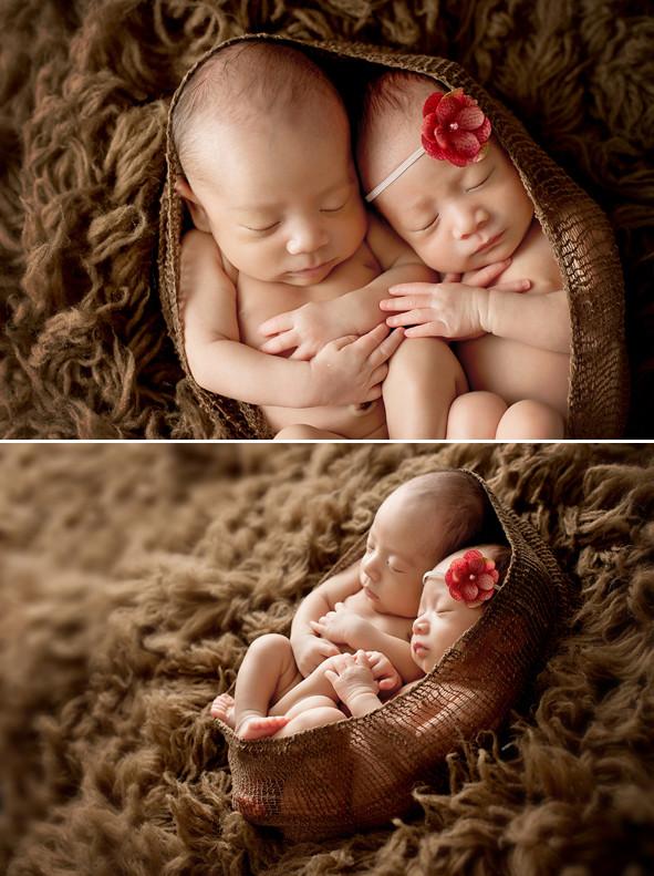 可爱双胞胎宝宝写真